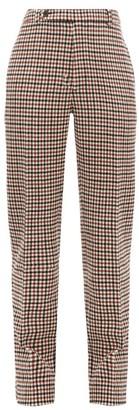 Holiday Boileau Gabi Checked Wool Blend Tweed Trousers - Womens - Brown
