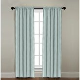 """Veratex Solid Window Panel Collection Made in the U.S.A. 100% Linen Living Room Rod Pocket Solid Window Panel Curtain, Mineral Blue, 84"""""""