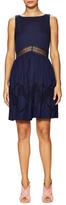 Rebecca Minkoff Tess Lace Inset Flared Dress