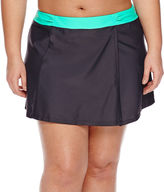 Free Country Solid Swim Skirt-Juniors Plus