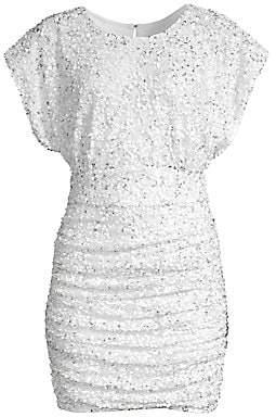 Jay Godfrey Women's Drape Bodice Shirred Mini Dress - Size 0