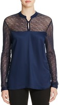 Vero Moda Embroidered Mesh Illusion Top