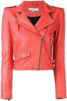 IRO cropped fitted jacket - women - Lamb Skin/Rayon/Polyester - 38