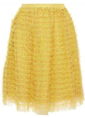 RED Valentino Tiered Point D'esprit Skirt