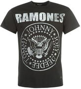 Firetrap Blackseal Ramones T Shirt Mens