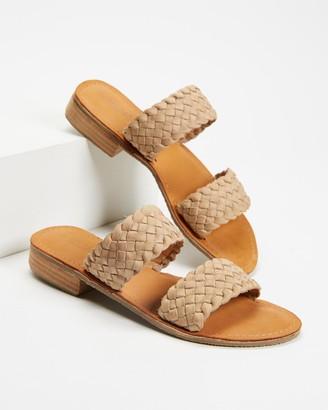 Human Premium - Women's Brown Flat Sandals - Lanark II - Size 38 at The Iconic