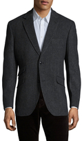 Kroon Wool Herringbone Notch Lapel Sportcoat