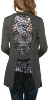 Magic Fit Charcoal Lace-Back Open Cardigan