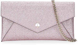 Kate Spade Burgess Court Glitter Envelope Clutch Bag