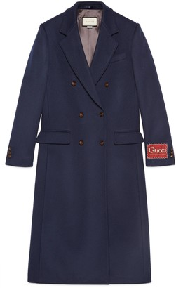 Gucci Wool coat with label