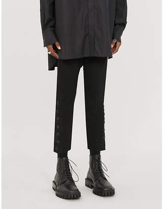 Ann Demeulemeester Jasmin tapered stretch-woven trousers