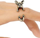 Romwe Gold Bulldog Ring
