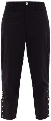 ÀCHEVAL PAMPA Al Beso High-rise Cotton-blend Satin Trousers - Womens - Black