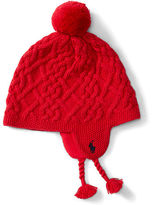 Ralph Lauren Cable Cotton Earflap Hat