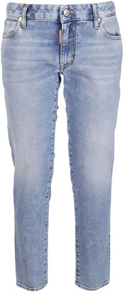 DSQUARED2 Bleached Straight Fit Jeans