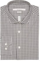 Perry Ellis Slim Fit Mini Gingham Dress Shirt