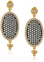 Freida Rothman Gold-Plated and Cubic Zirconia Oval Earrings