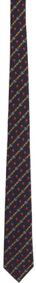 Gucci Navy GG Fruits Tie