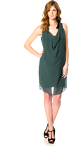 A Pea in the Pod Faux Leather Trim Maternity Dress