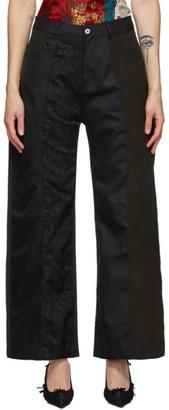 Marques Almeida Black Patchwork Boyfriend Trousers