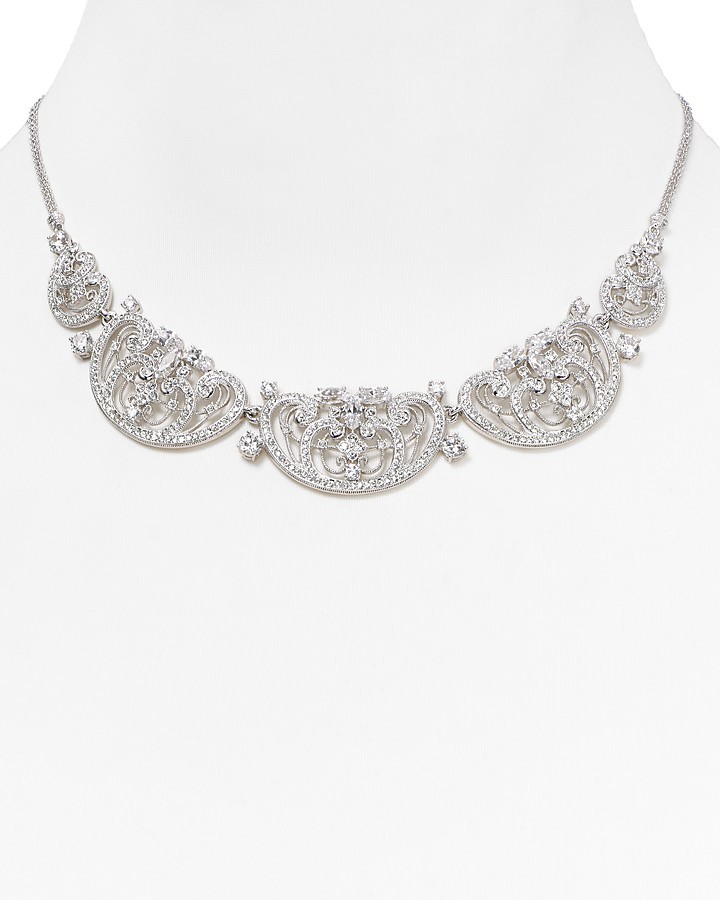 "Nadri Legacy Frontal Necklace, 18"""