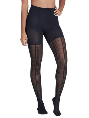 Spanx Tight End Geo Plaid Tights