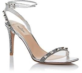 Valentino Women's Rockstud Studded Ankle Strap High Heel Sandals