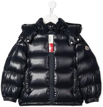 Moncler Enfant Long Sleeve Zip-Up Puffer Jacket