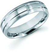 Boston Bay Diamonds 6MM Comfort Fit Titanium Ring Wedding Band with Double Channel Accent