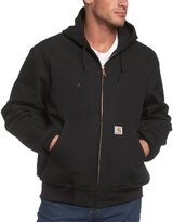 Carhartt Men's Big & Tall Thermal-Lined Duck Active Hoodie Jacket J131