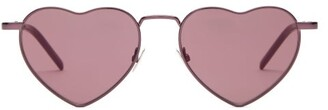 Saint Laurent Lou Lou Heart Metal Sunglasses - Womens - Pink