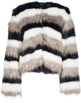 Paul Smith Striped Faux-fur Jacket