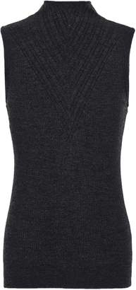 Elie Tahari Ribbed Merino Wool Top