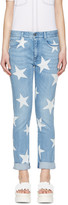 Stella McCartney Blue Skinny Boyfriend Stars Jeans