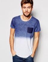 Esprit Dip Dye T-Shirt with Raw Edge