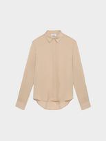 DKNY Silk Collared Shirt With Step Hem