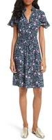 Rebecca Taylor Women's Ruby Floral Smocked Silk Dress
