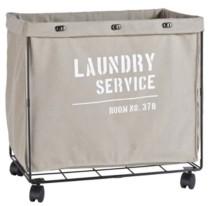 Danya B Army Canvas Laundry Hamper on Wheels