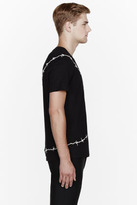 Alexander McQueen Black Barbed Wire Embroidered t-shirt