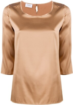 Snobby Sheep 3/4 Sleeves Round-Neck Blouse