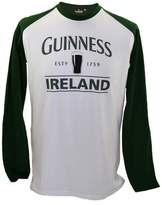 Guinness Long Sleeve T-Shirt With Pint & Ireland, w/Green Sleeves