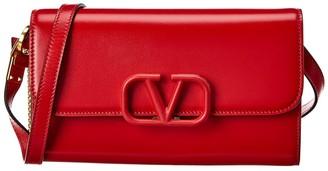 Valentino Vsling Leather Shoulder Bag