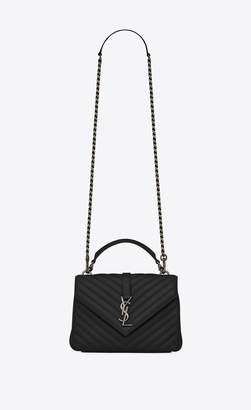 Saint Laurent College Medium In Matelasse Leather