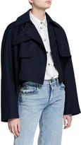 KHAITE Krista Cotton Cropped Trench Jacket