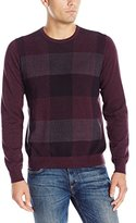 Van Heusen Men's Plaid Crew Sweater