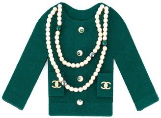 Chanel Pre Owned 1990's embellished felt jacket brooch