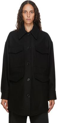 MM6 MAISON MARGIELA Black Wool Oversize Coat