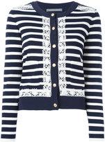 Alberta Ferretti striped cardigan - women - Cotton/other fibers/Rayon/Polyamide - 44