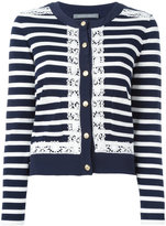 Alberta Ferretti striped cardigan - women - Cotton/Polyamide/Rayon/other fibers - 44