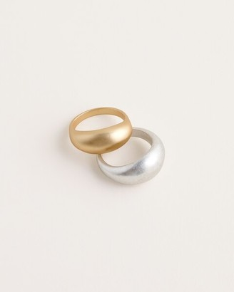 Chico's Stackable Mixed-Metal Ring Set